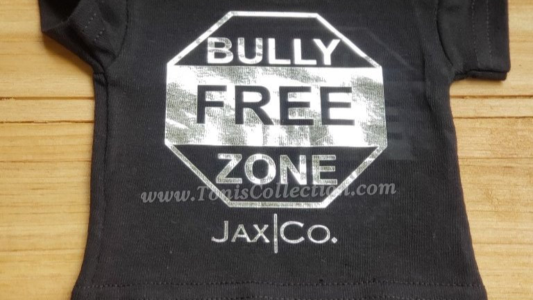 Bully Free Zone (Black Tee w/ Silver Graphic)