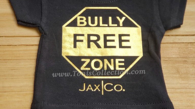 Bully Free Zone (Black Tee w/ Gold Graphic)