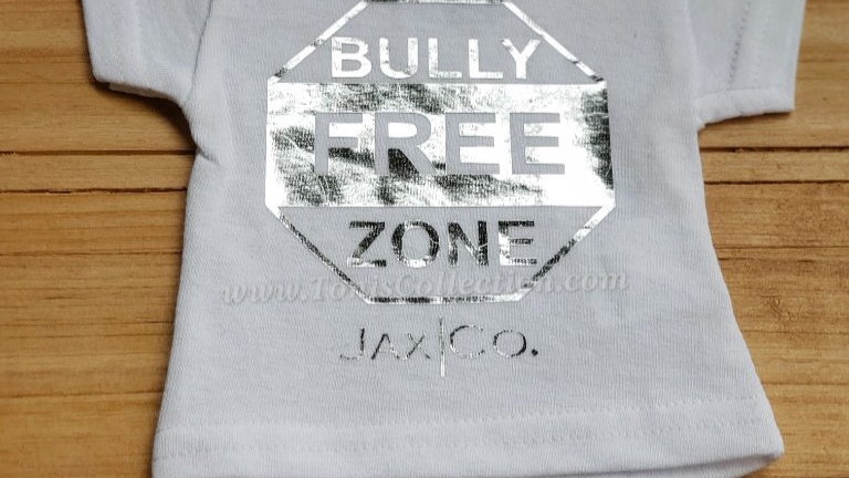 Bully Free Zone (White Tee w/ Silver Graphic)
