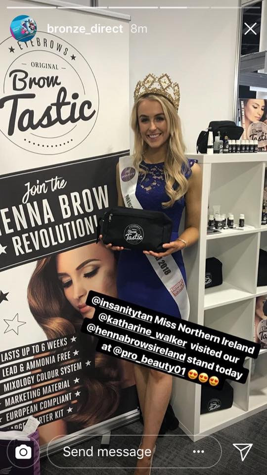 Miss Northan Ireland With Henna Brows UK BrowTastic