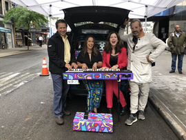 #DrivingHope Campaign with Sing for Hope co-founders Monica Yunus and Camille Zamora, Lee Nadler of MINI USA