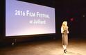 Victoria Pollack introducing the 2016 Film Festival at Juilliard