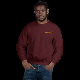 unisex-crew-neck-sweatshirt-maroon-front