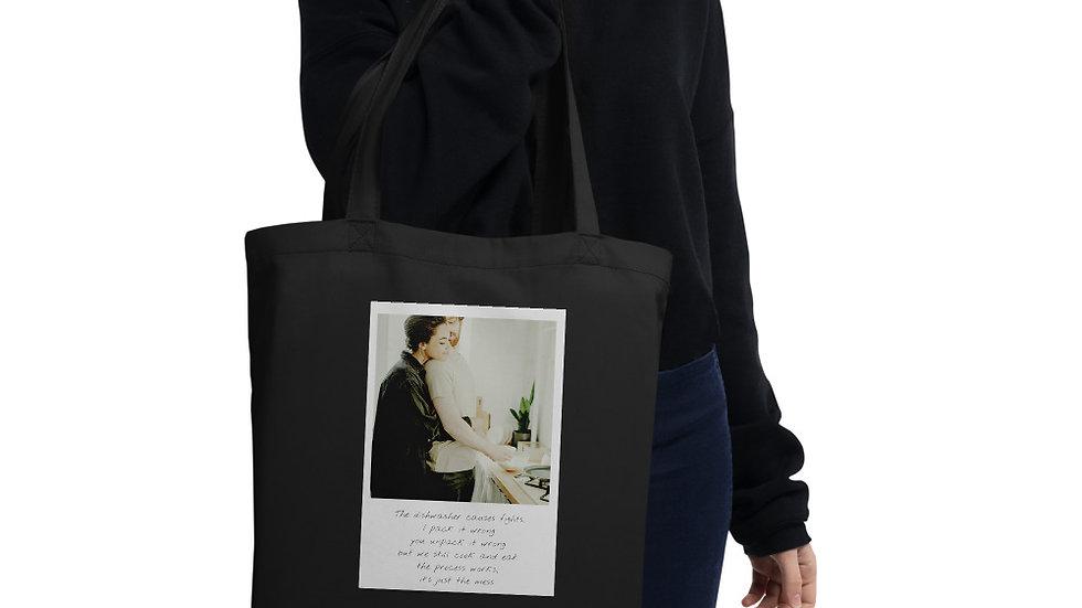 Eco Tote bag | Designer Organic bag  | Dishwasher causes Fights