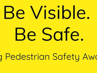 So excited to announce my Pedestrian Safety Awarness Advocacy, Be Visible Be Safe.