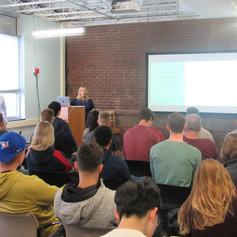 Joey DiGangi spoke to crowd of aspiring student entrepreneurs & local businesses