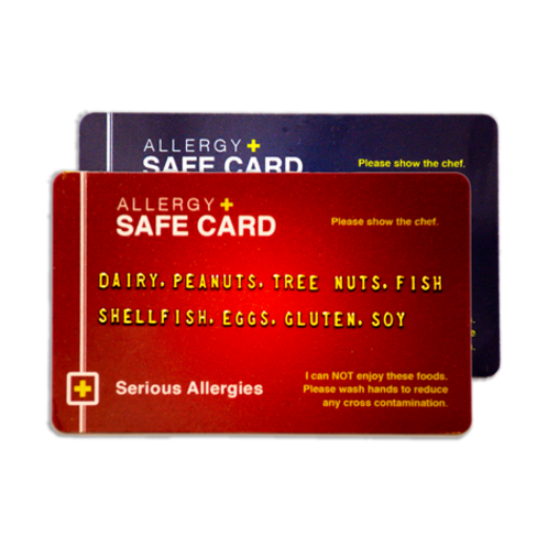 Allergy Safe Card