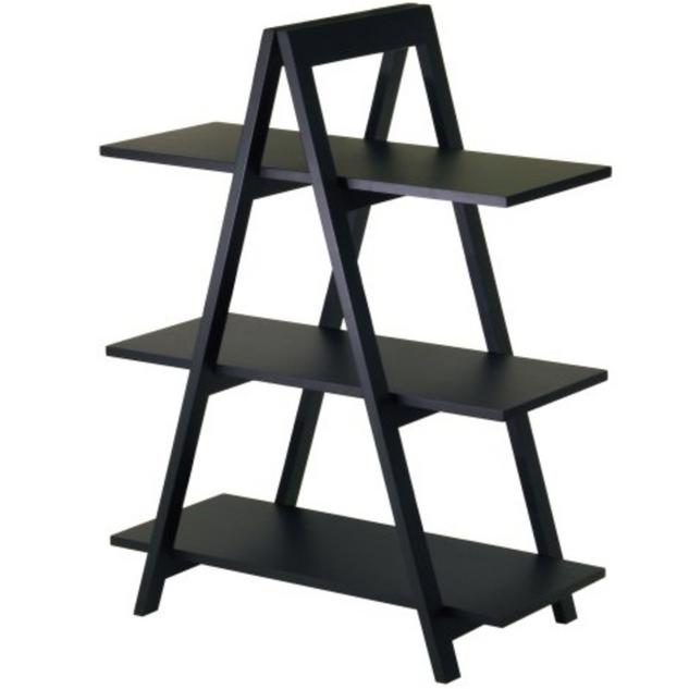 black three tier dessert ladder
