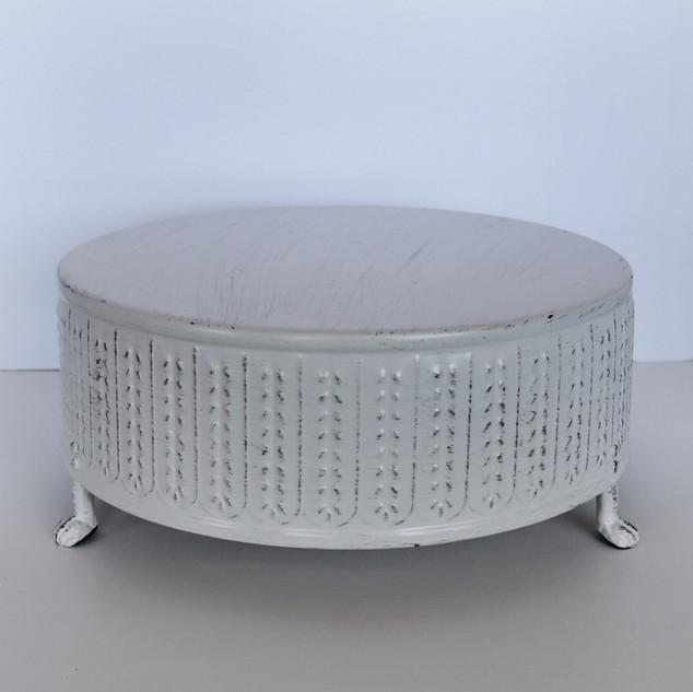 large metal cream cake pedestal