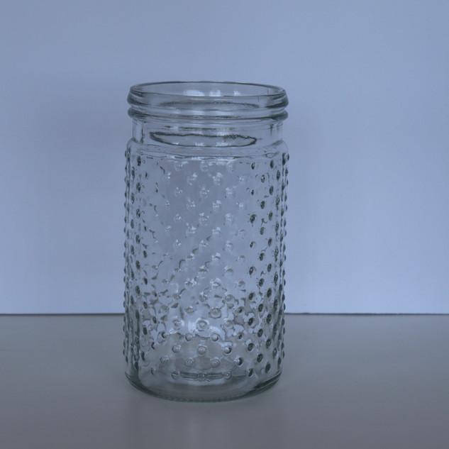 glass knob jars