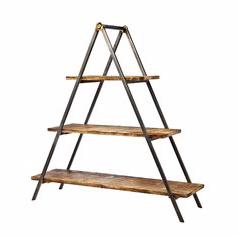 wood & metal three tier dessert ladder