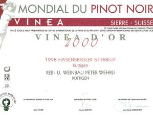 Mondial du Pinot noir 2000_Stierenbluet.