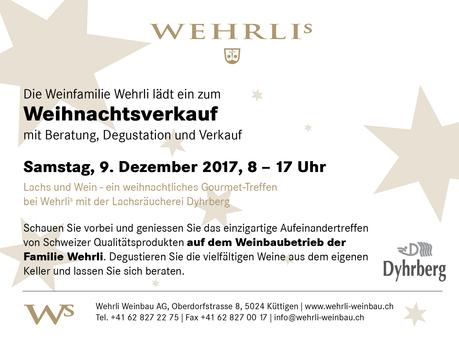 Weihnachtsverkauf am 9. Dezember 2017
