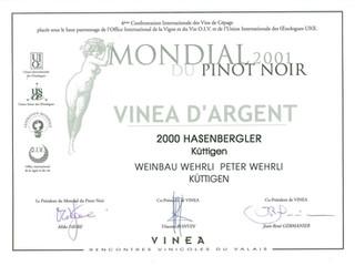 Mondial du Pinot noir 2001_Hasenbergler.