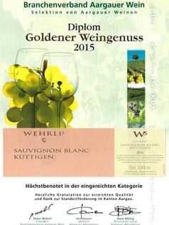 Goldener Weingenuss 2015_Sauvignon blanc