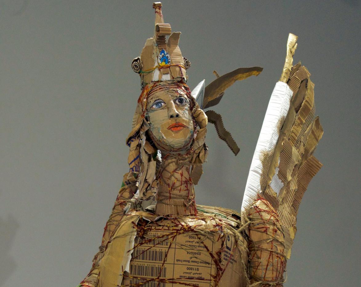 Yasmin Sinai Simorgh Cardboard Sculpture 85 x 130 cm 2014