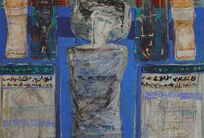 Mohammad Hossein Maher Acrylic & ink on canvas 150 x 150 cm