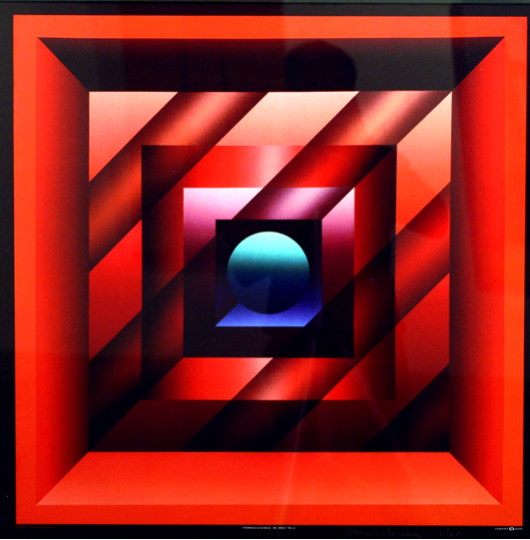 Francis Tansey Translucence in red Print 75 x 75 cm