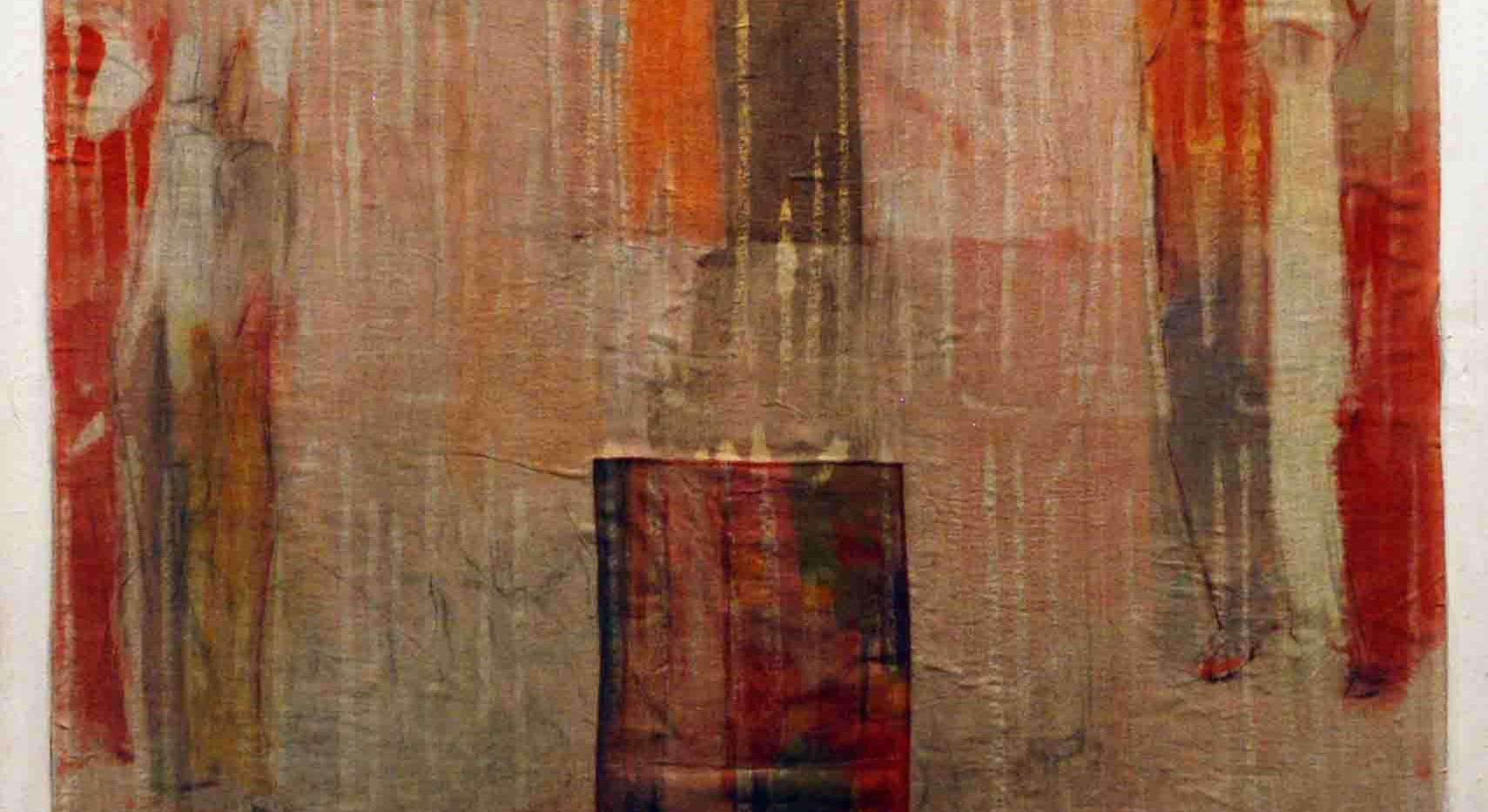 Aneh Mohamad Tatari Mix media on fabric Stretched on wooden frame 95 x 100 cm