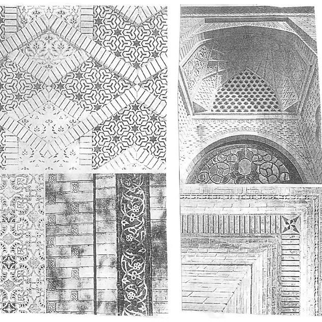 Tile brick pattern design