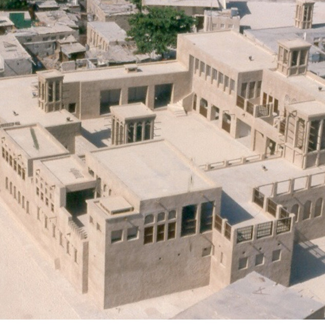 Aerial view of Sheikh Saeed House
