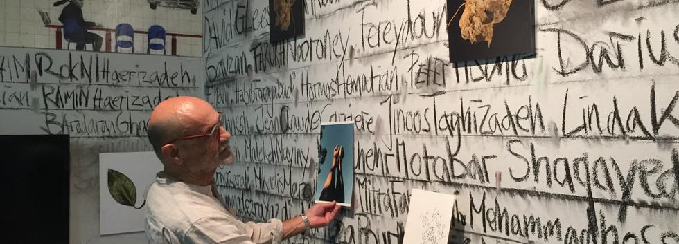 Curator of the exhibition, Fereydoun Ave