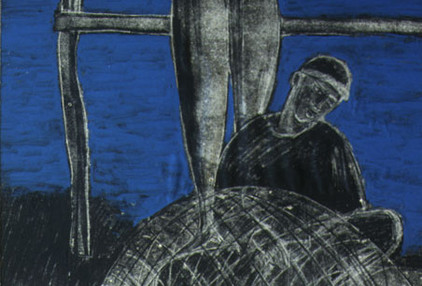 Mohammad Hossein Maher Acrylic & ink on paper 50 x 40 cm 1992