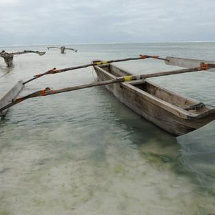 Boats in the ocean, Zanzibar, Tanzania