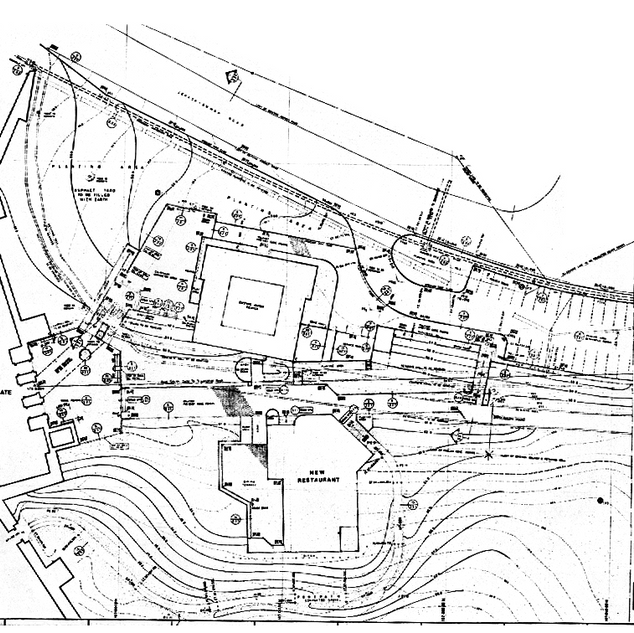Site plan for Jerash restaurant and touristic facilities