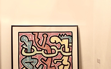 Keith Haring Flower Silk screen on paper 135 x 100 cm 1990