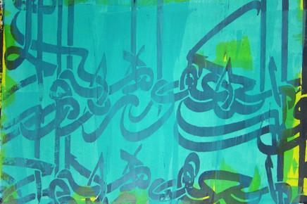Nima Behnoud Green Pledge Silkscreen on paper 100 x 120 cm 2014