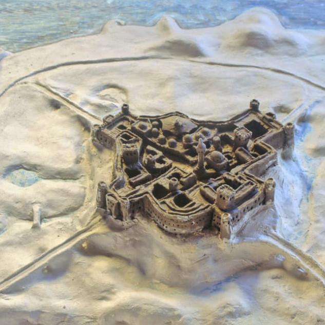 Model of the hilltop village