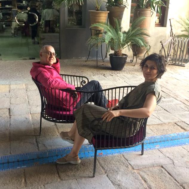 Dariush Zandi with wife and frequent collaborator, Shaqayeq Arabi