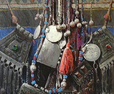 Mohseni Kermanshahi Beautiful Ornament Acrylic and oil on canvas 80 x 120 cm 2011