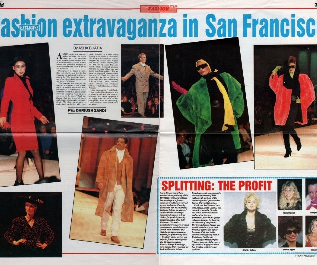 Article about the fashion show in Gulf News