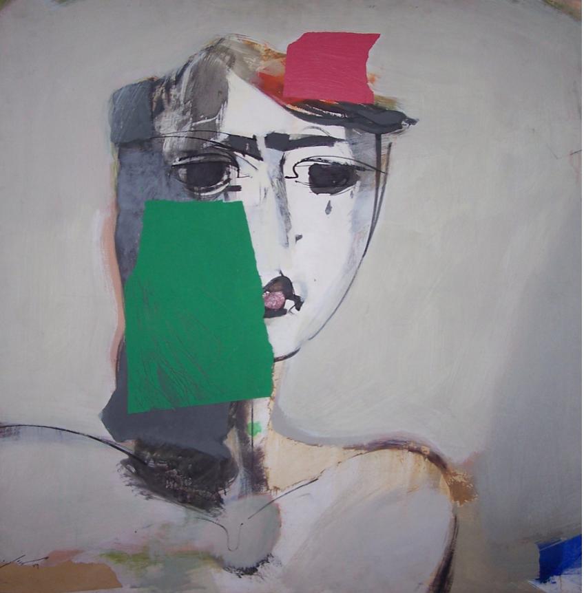 Nusratolah Moselmian Portrait Acrylic on canvas 80 x 80 cm 1998