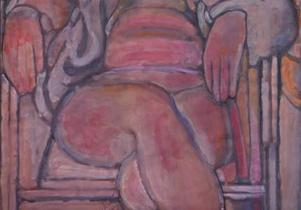 Ali Golestaneh Woman Gouache on paper 100 x 70 cm 2011