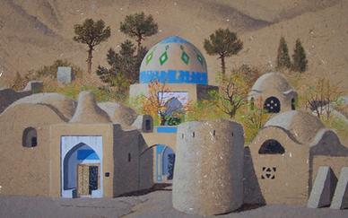 Parviz Kalantari Untitled Mix media on canvas 60 x 50 cm 1998