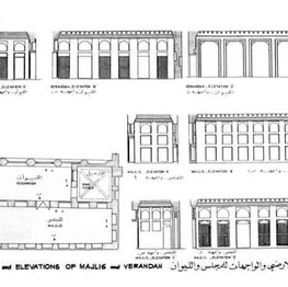 Plan and elevations of the restoration work