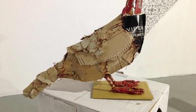 Installation view Yasmin Sinai Partridge 38 x 40 cm