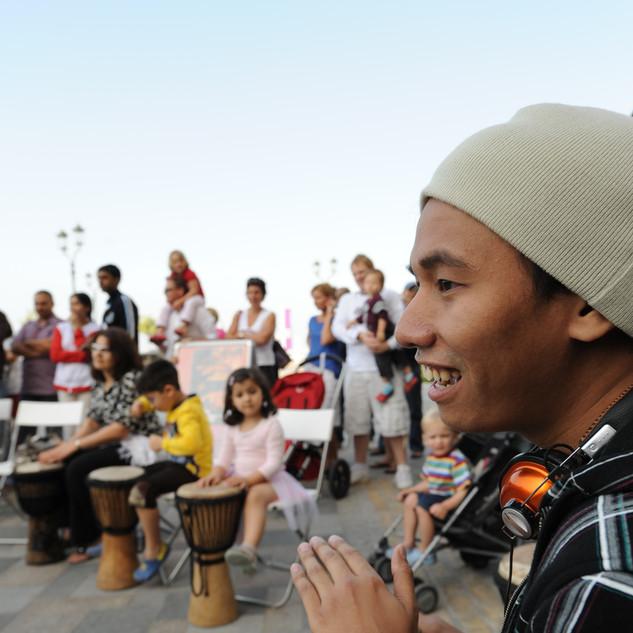 Drummers in Jumeirah Beach Residence