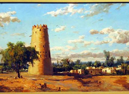Mohseni Kermanshahi Watchtower, Al Ain Oil on Canvas 50 x 100 cm 2008