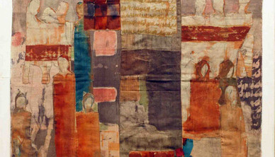 Aneh Mohamad Tatari Mix media on fabric Stretched on wooden frame 95 x 95 cm
