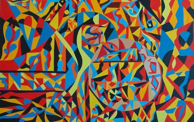 Abdul Rahman Al Mueini Scene Oil on canvas 100 x 120 cm 2005
