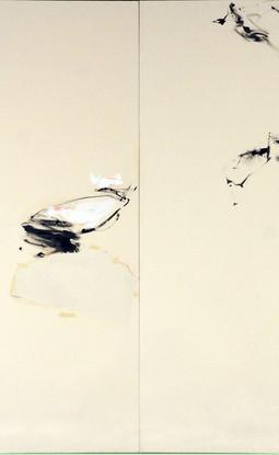 Acrylic on raw canvas 200 x 200 cm 2018