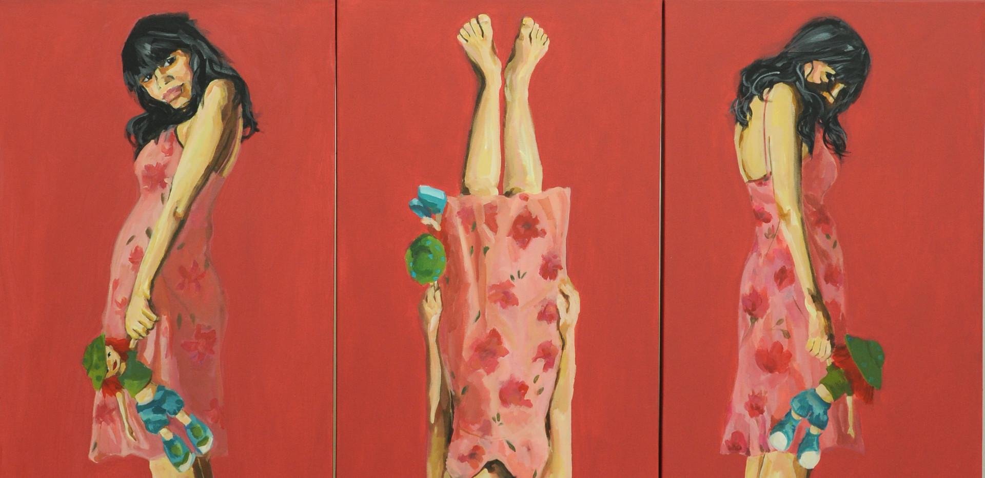 Soodeh Bagheri Acrylic on canvas 150 x 300 cm