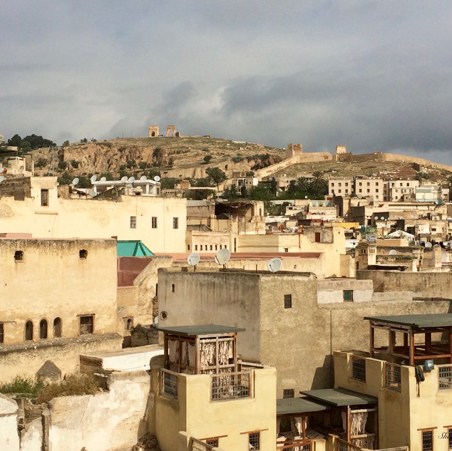 Rooftops of Fez old city - photo by Shabnam Arabi