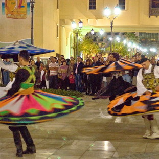 Egyptian Sufi dancers performing in Jumeirah Beach Residence during the Dubai Shopping Festival