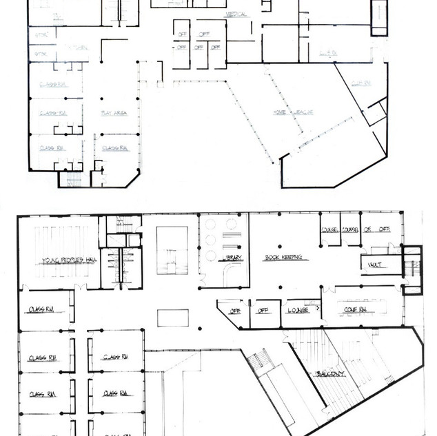 Ground floor (top) and second floor plans