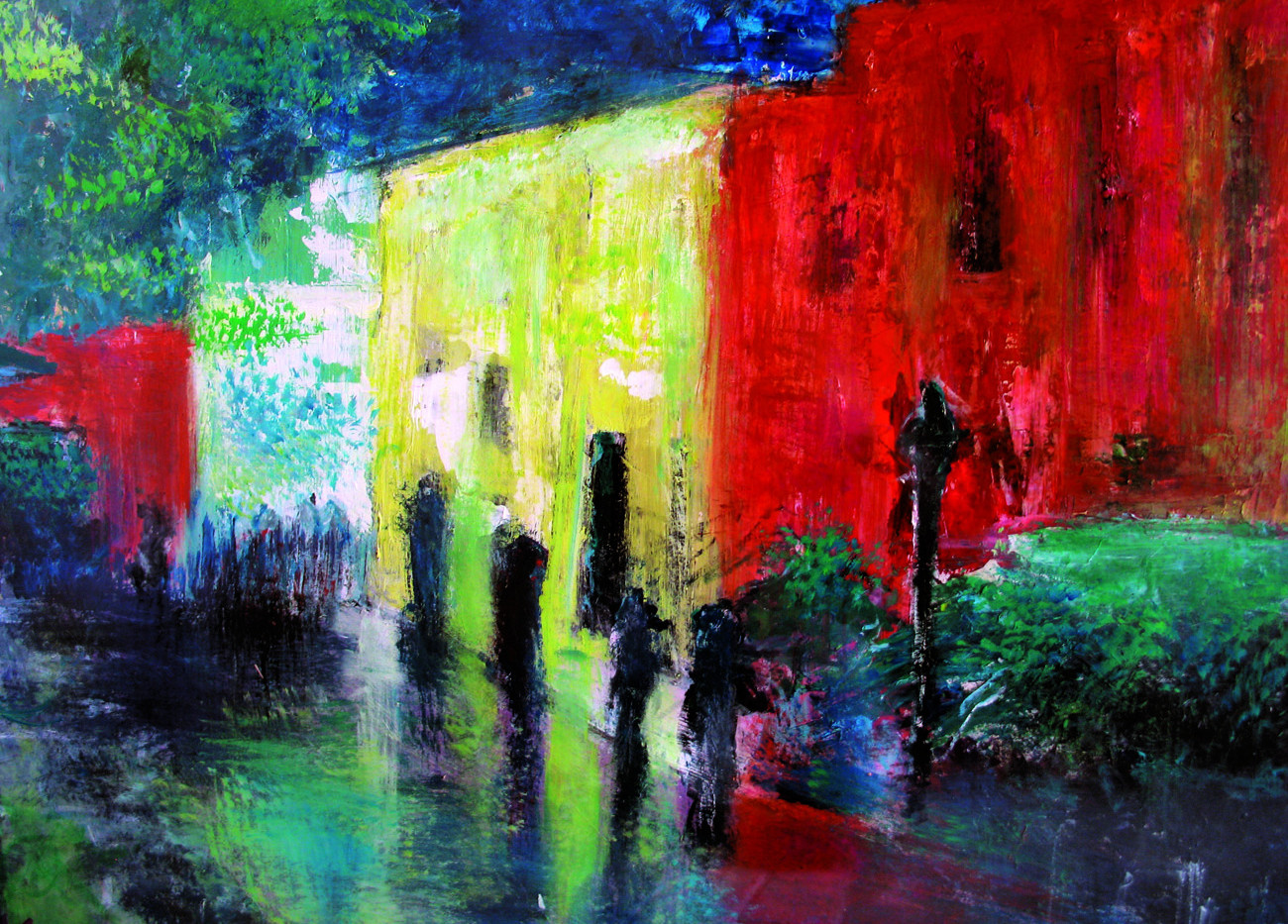 Nuha Assad Rainyday Oil on canvas 50 x 70 cm 2005